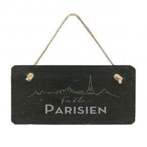 Plaque de porte en ardoise Fier d'être Parisien