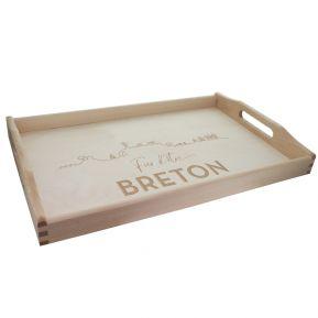 Plateau gravé Fier d'être Breton