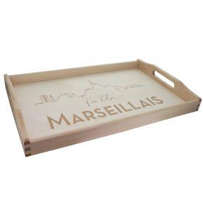 Plateau gravé Fier d'être Marseillais