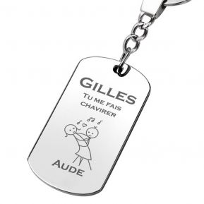 Porte-clés plaque Amour