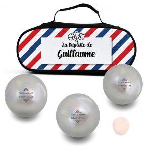 Sacoche pour boules de pétanque personnalisée Bleu-Blanc-Rouge