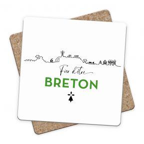 Sous-bock Fier d'être Breton