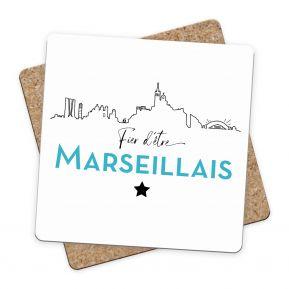 Sous-bock Fier d'être Marseillais