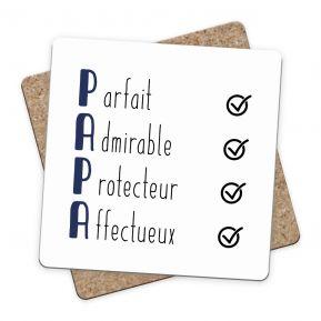 Sous-bock Les qualités de Papa