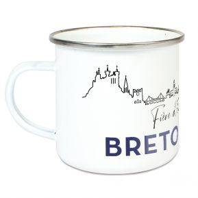 Tasse émaillée Fier d'être Breton