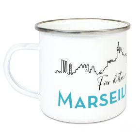 Tasse émaillée Fier d'être Marseillais