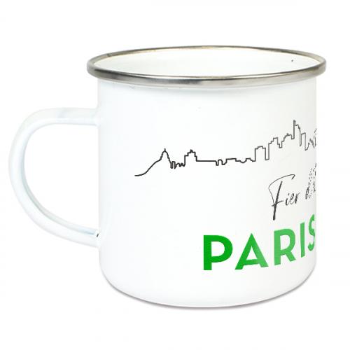 Tasse émaillée Fier d'être Parisien