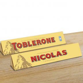 Toblerone personnalisé prénom - 360g chocolat au lait