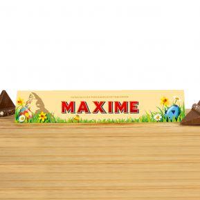 Toblerone 360g chocolat au Lait personnalisé Pâques