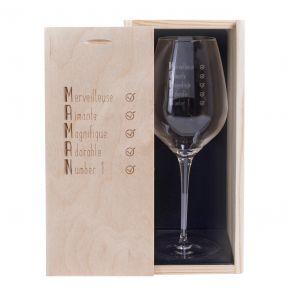 Verre à vin Les qualités de Maman
