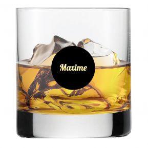 Verre à whisky rond sérigraphié personnalisé