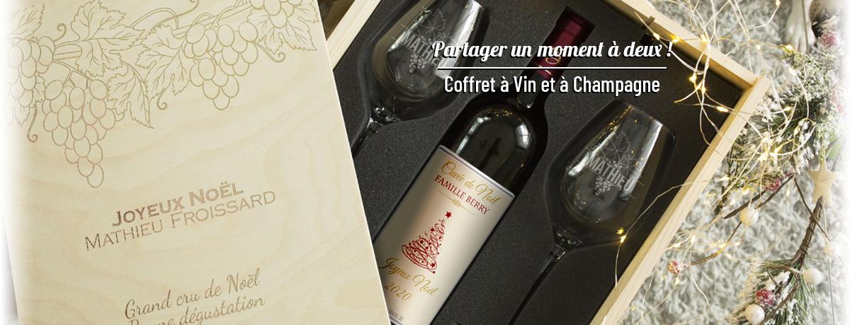 Coffrets cadeaux vin et champagne