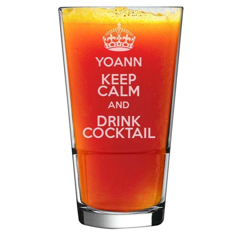 Un Verre À Cocktail Personnalisé Avec Votre Prénom