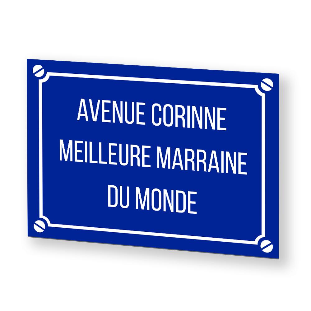 Plaque de rue personnalisée avec texte
